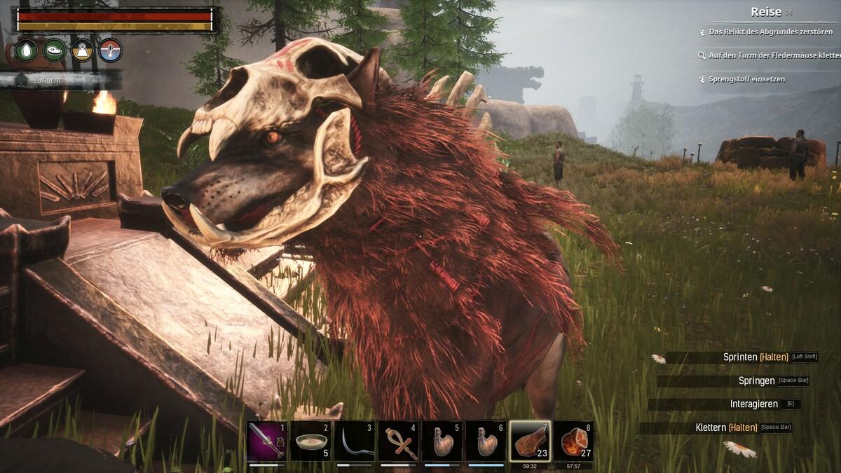 Mächtiger Wolf gezähmt