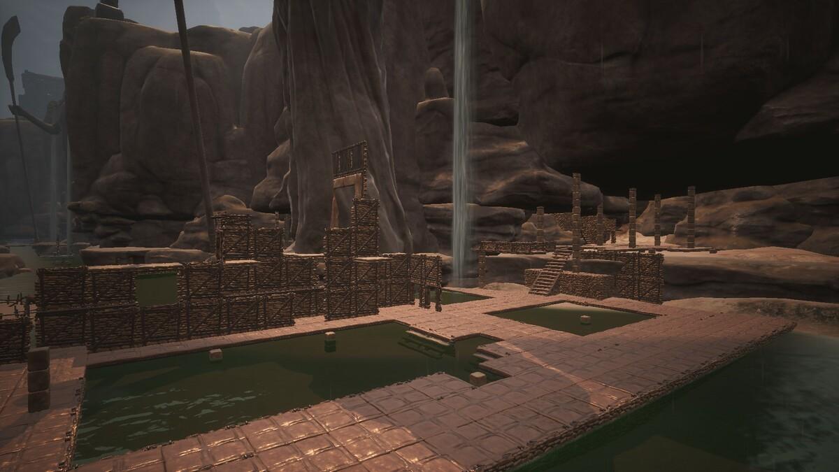 Schatten von Skelos - Ruinen des alten Tempels nach der Katastrophe
