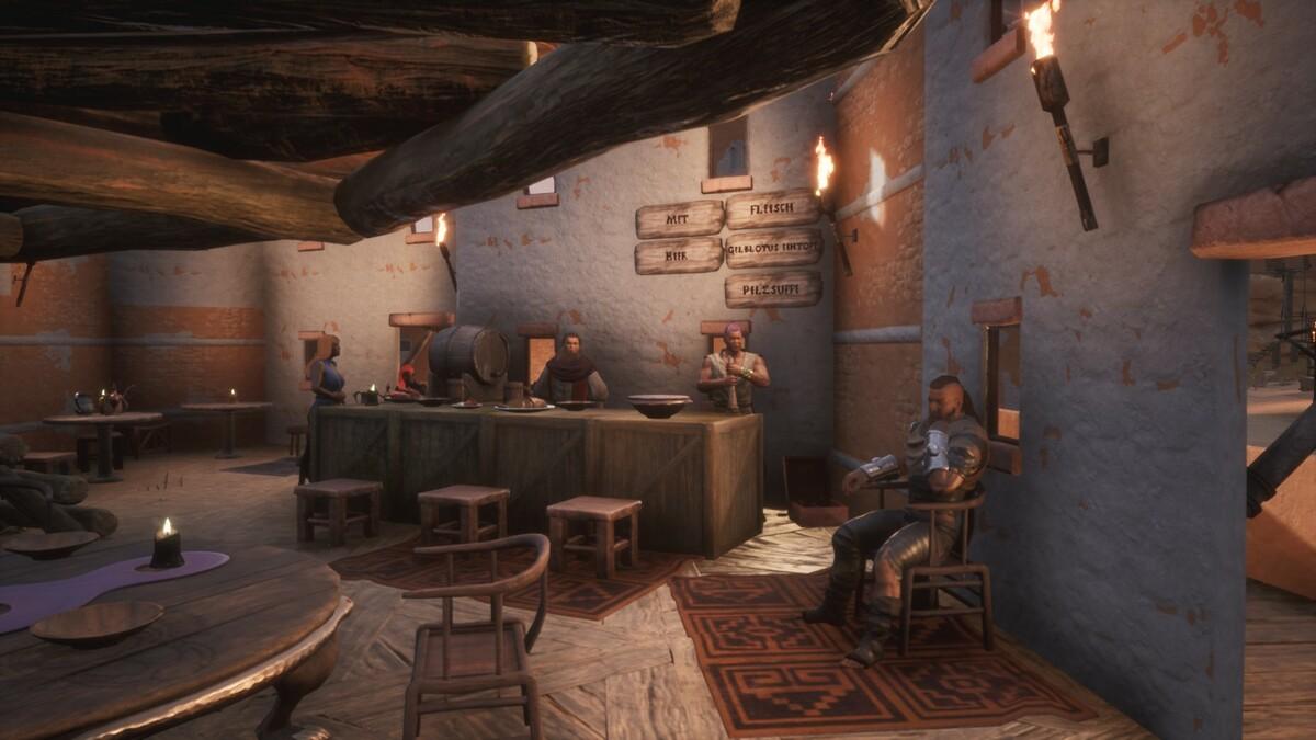 Die Taverne von innen, Reichhaltiges Angebot