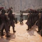 Die Scharlach Geister, eine Elite Söldner Truppe hält in Port Hades einzug