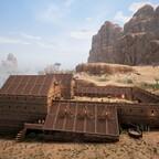Ansicht vom Dach des Saklavenrads