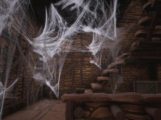 Schatten von Skelos - Spinnenweben im Turm in der Namenlosen Stadt