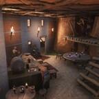 Die Taverne von innen