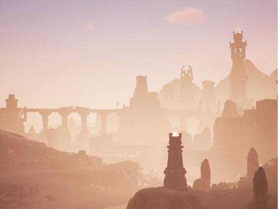 Das alte Tal badet im Sonnengold