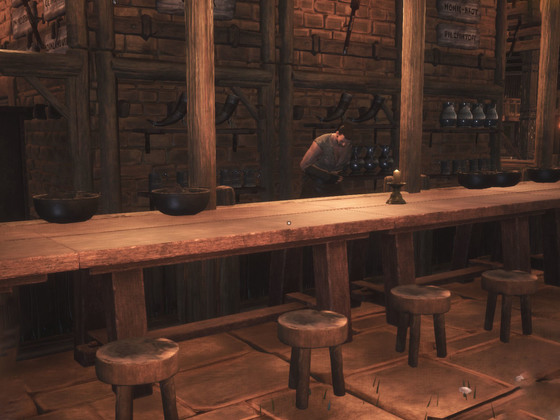 Der blutige Bierbrunnen - ein sehr höflicher Barmann