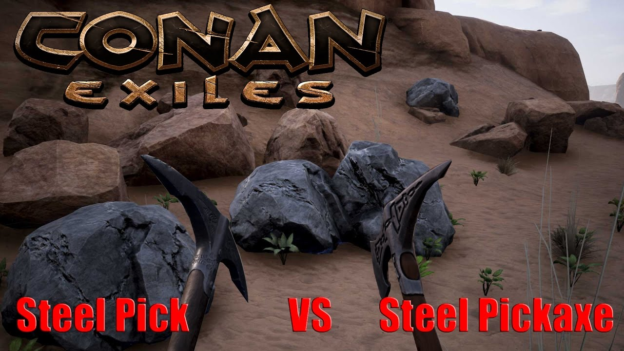 Conan Exiles How to farm more iron, stone and coal